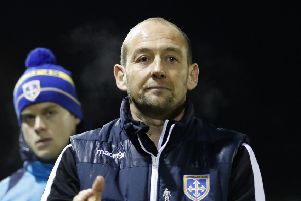 Guiseley joint-manager Russ O'Neill Picture: Martin Rickett/PA