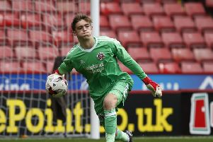 LOAN DEAL: Sheffield United goalkeeper Marcus Dewhurst should start against Bradford Park Avenue on New Year's Day. Picture: Simon Bellis/Sportimage