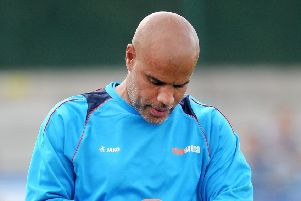 Guiseley co- manager Marcus Bignot (Picture: Steve Riding).