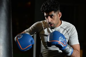 Leeds boxer Zahid Hussain. Picture Bruce Rollinson.