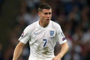 James Milner in England colours