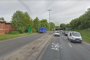 The A643 in Holbeck