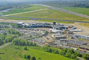 Leeds Bradford Airport from above