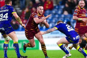Huddersfield Giants' Daniel Smith in action against Warrington Wolves last season. (SWPix)
