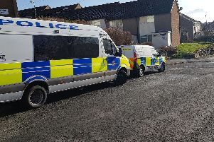 A large police presence was seen on Helston Road