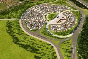 An impression release by Leeds City Council of what the new Stourton Park and Ride could look like.