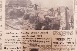 Leeds tractor driver dies beneath burning mound of hay... and police contend with 'a couple of twerps'... in 1919