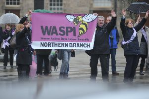 Members of WASPI (Women Against State Pension Inequality).