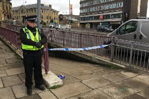 The subway in Halifax town centre has been cordoned off by police