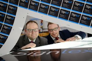 Caption: (L-R) Simon Belton (Signlex) and Evan Griffin (Lloyds Bank)