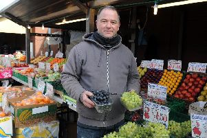 Shaun Dolan who has a family fruit and veg stall on the outdoor market.