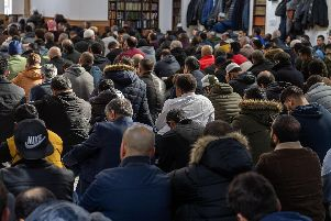 The Leeds Grand Mosque was packed with worshippers who joined prayers for the victims of the shooting in New Zealand.