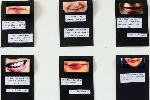 An exhibition to raise awareness of Child Sexual Exploitation at Shine Harehills in  Leeds in March 2018. Picture by Simon Hulme.