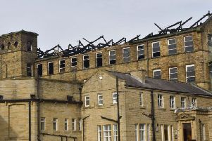 New photos show extent of devastation at huge Bradford mill fire. Photo credit: West Yorkshire Fire and Rescue Service.