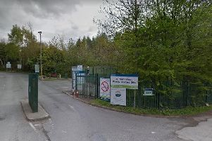 The recycling site in Milner's Road, Yeadon.