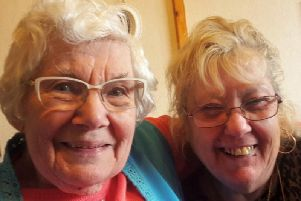 Christine Nelligan, with Rothwell & District Live at Home project worker,'Christine Darbyshire. The scheme was one of 50 to receive funding from Time to Shine. Picture: Time to Shine.