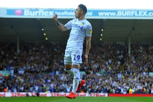 Pablo Hernandez celebrates his first goal against Millwall.