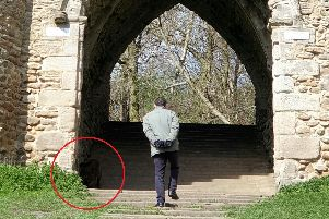Stephanie Smith captured what she thinks is a demonic ghost dog at the folly at Roundhay Park. Picture: SWNS/Ross Parry