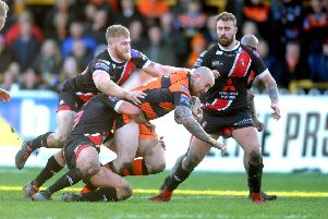 INJURED: Castleford Tigers' Nathan Massey.  Picture: Tony Johnson.