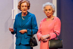 Sarah Crowden and Susan Penhaligon star in Handbagged