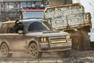 An action sequence in the movie
