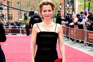 Radiant and glowing - Gillian Anderson earlier this month attending the Laurence Olivier Awards, Royal Albert Hall, London.  Ian West/PA Wire