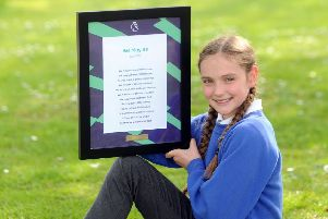 Otley All Saints C of E Primary School pupil Kitty Quin, 11,  has been named as the Yorkshire & the Humber winner of the Premier League Writing Stars poetry competition.