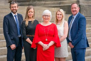 Left to right: Philip Gregory, Amy Venson, Barbara Rollin, Emma Wilson and Christopher King, of Gateley's real estate team.