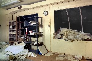 This office overlooked the control room