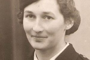 Barbara Durrant during her time in the fire service during the war.