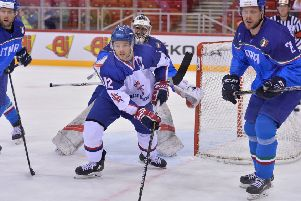 GAME ON: Sheffield Steelers' forward Robert Dowd is aiming to show people in Slovakia that the British game is thriving. Picture: Dean Woolley.