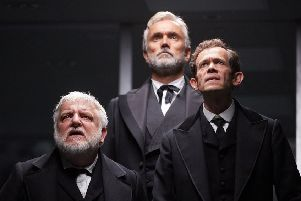Simon Russell Beale, Ben Miles and Adam Godley in The Lehman Trilogy at the National Theatre. The show will be broadcasting live from London's West End to Vue Leeds Kirkstall and The Light Leeds.
