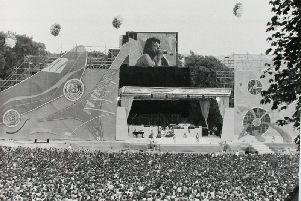 The Rolling Stones performing in Roundhay Park during the venue's heyday in the 1980s.
