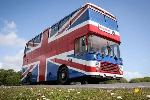 Die-hard Spice Girls fans can now spend a night aboard the original Spice Bus (Photo: Airbnb)