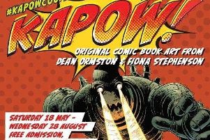 KAPOW! comic book art exhibition featuring work by local couple Dean Ormston and Fiona Stephenson at Barnsley's Cooper Gallery from Saturday, May 17 to Wednesday, August 28, 2019