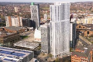 The student skyscraper is being built in Leeds city centre