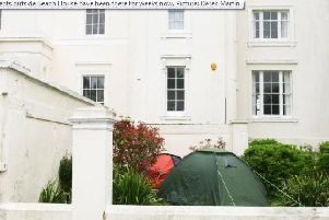 Residents in Worthing were recently faced with a number of homeless people setting up camp in their front garden (Photo: Derek Martin)