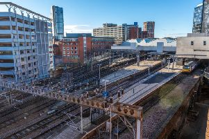 Fire next to train track in Leeds causing delays