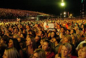 Crowds watch Robbie Williams in the park in 2006, the last large capacity event held there.