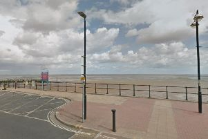 The promenade in Cleethorpes where Mr Simpson's body was found.