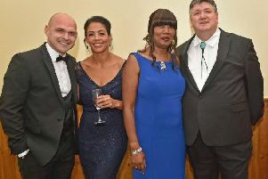Danny Murphy is pictured (left)  with Michaella Farrell-Anderson, Fran Farrell-Anderson and Bob Mills