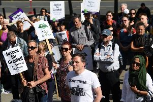 Little London Tenants and Residents Association members at a previous protest over Grenfell