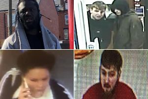 Wanted: Do you recognise anyone? Call police on 101