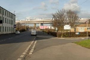 A computer generated image of how the HS2 viaduct could look from Balm Road, Hunslet.