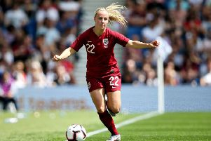 BRING IT ON: England's Beth Mead in action against New Zealand in the last warm-up encounter, is ready to tackle Scotland. Picture: Getty Images