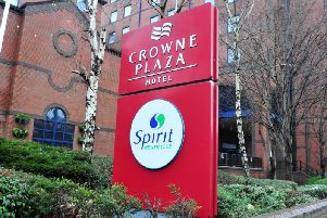 The Crowne Plaza in Leeds, where the Infected Blood Inquiry will take place this week and next. Picture: Tony Johnson.