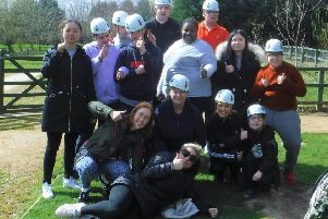 A group from Aireborough Supported Activities Scheme enjoying one of its many outings.