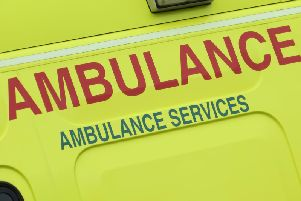 The ambulance was broken into on Wednesday.
