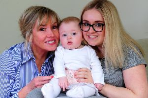 Tracey Chaplin with daughter Harriet and granddaughter Amaiya Robson