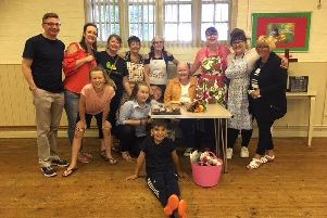 TEAM:  The friends and family of Jo Harker will Jo's Strawberry Tea at St Michael's Parish Church, East Ardsley on June 29.